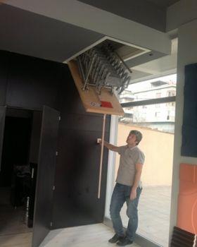 motorlu çatı merdiveni fiyatı