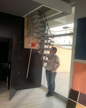 motorlu çatı merdiveni modeli
