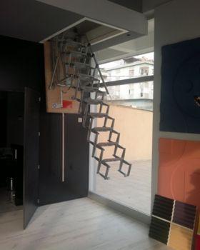 motorlu çatı merdiveni kapakları