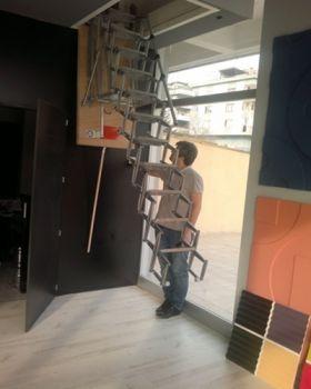 motorlu çatı merdiveni nasıl kullanım kılavuzu