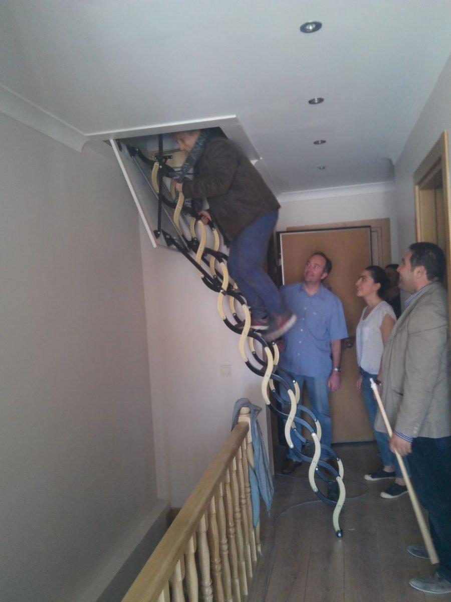 makaslı çatı merdiveni kurulum bilgisi