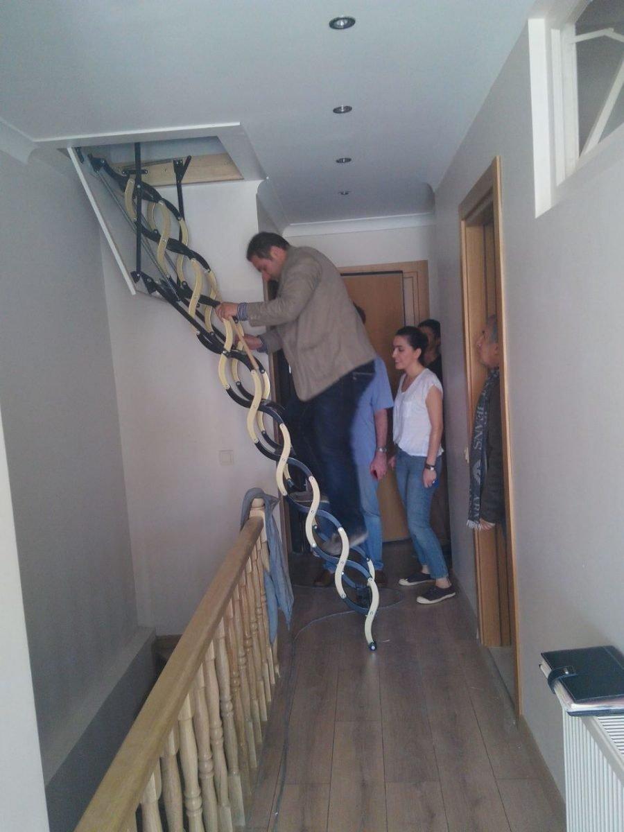 makaslı çatı merdiveni nasıl kurulur