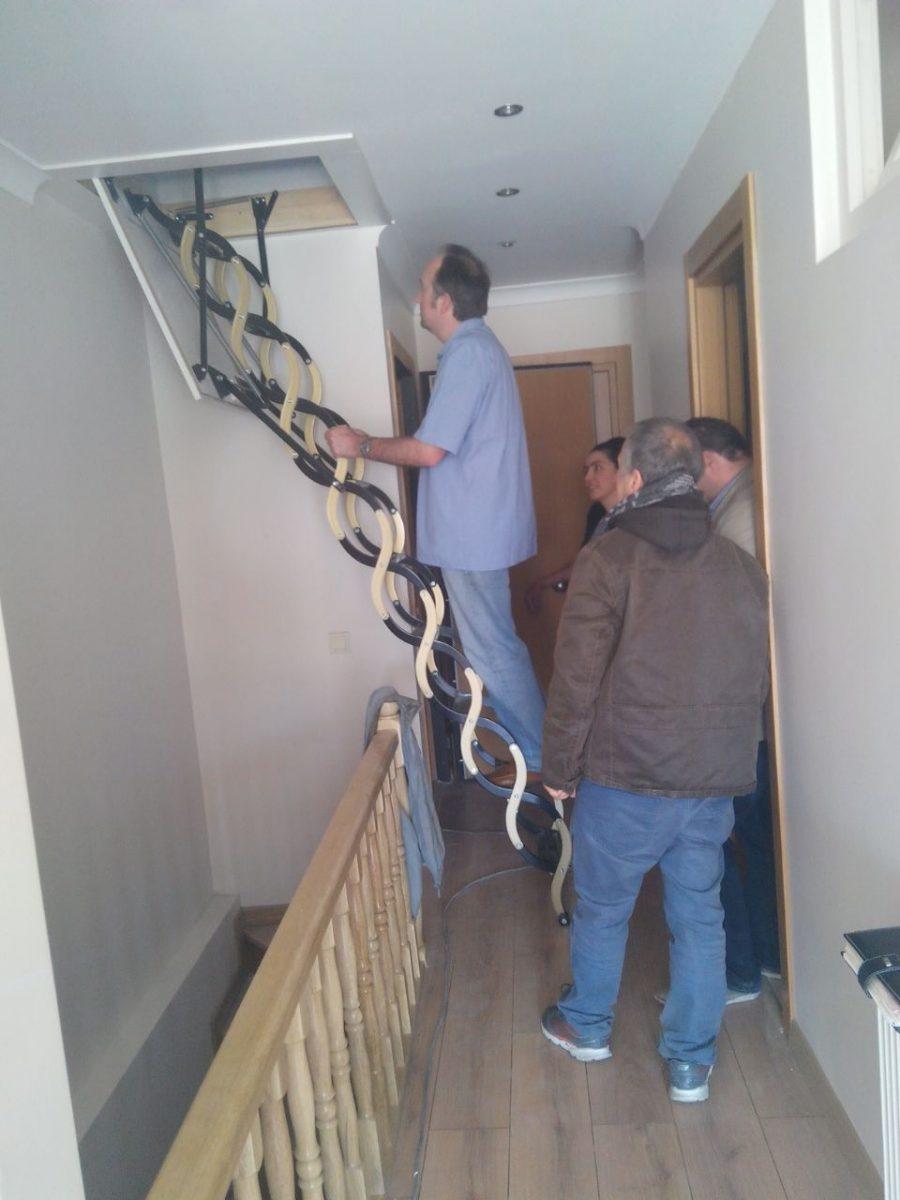 akardiyon çatı merdivenleri