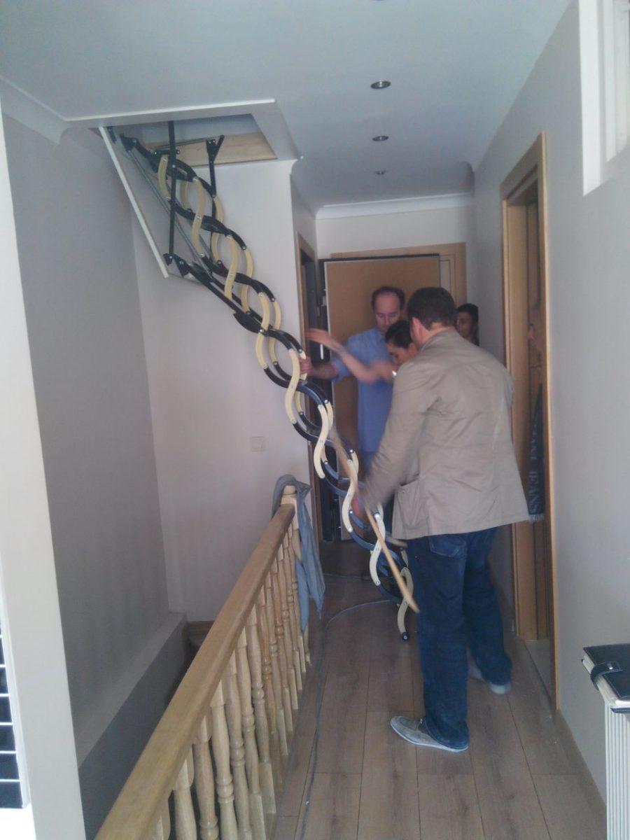 teras makaslı çatı merdivenleri