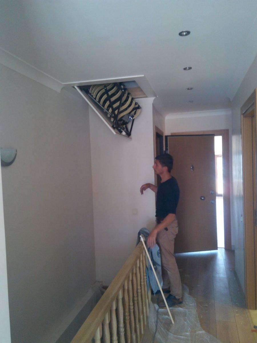 aytürk makaslı çatı merdivenleri
