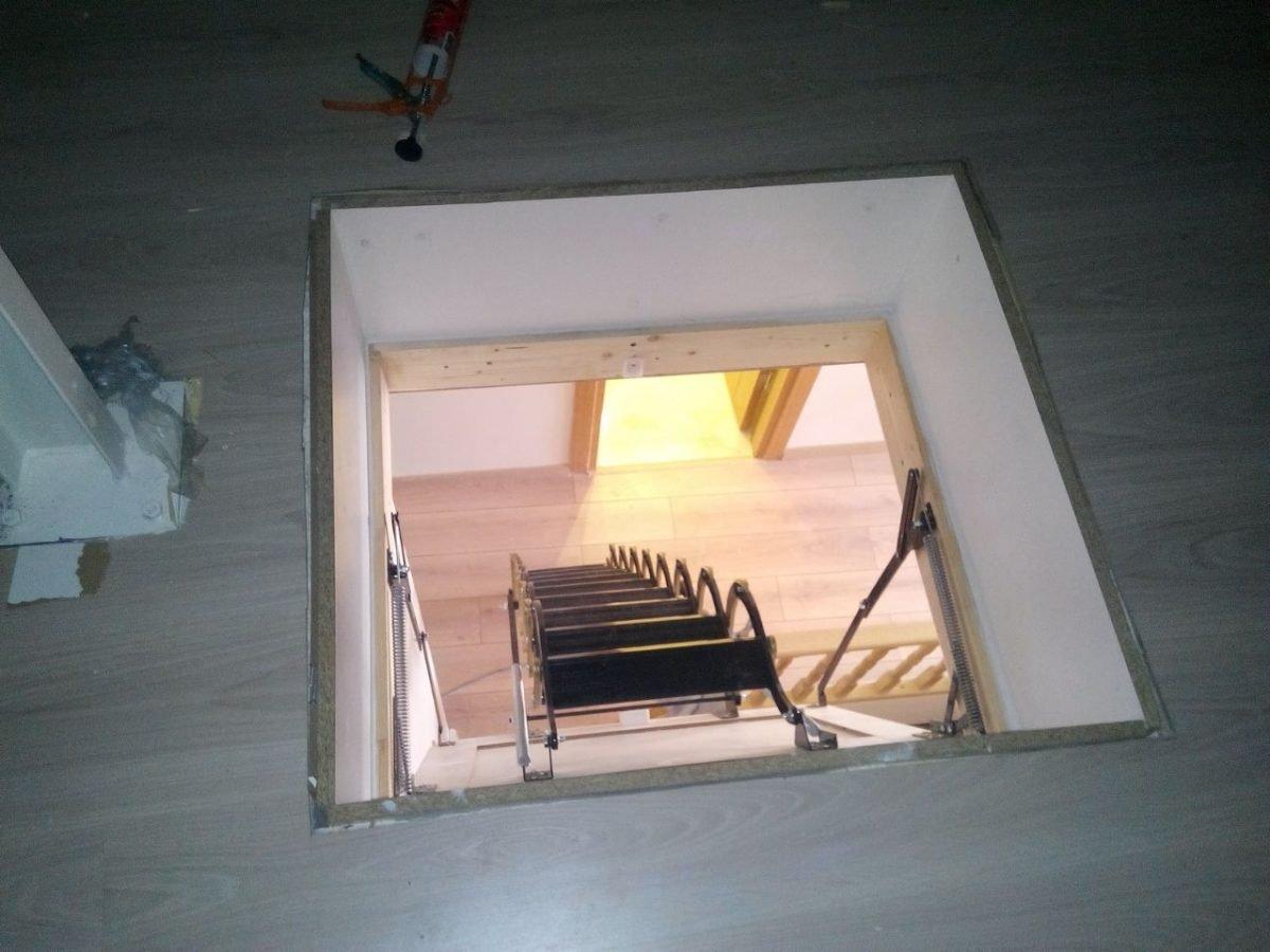 makaslı çatı merdiveni çizimleri