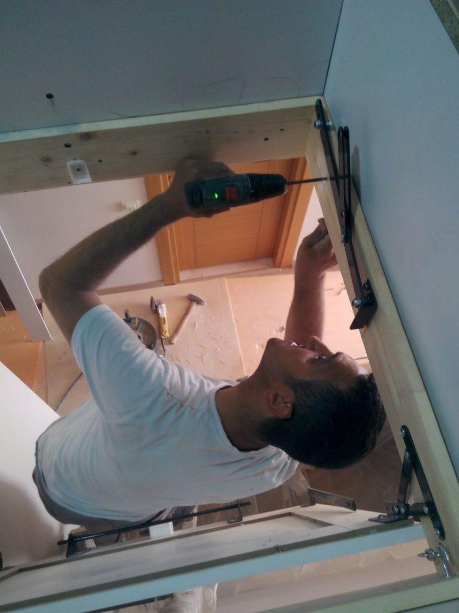dorset makaslı çatı merdivenleri