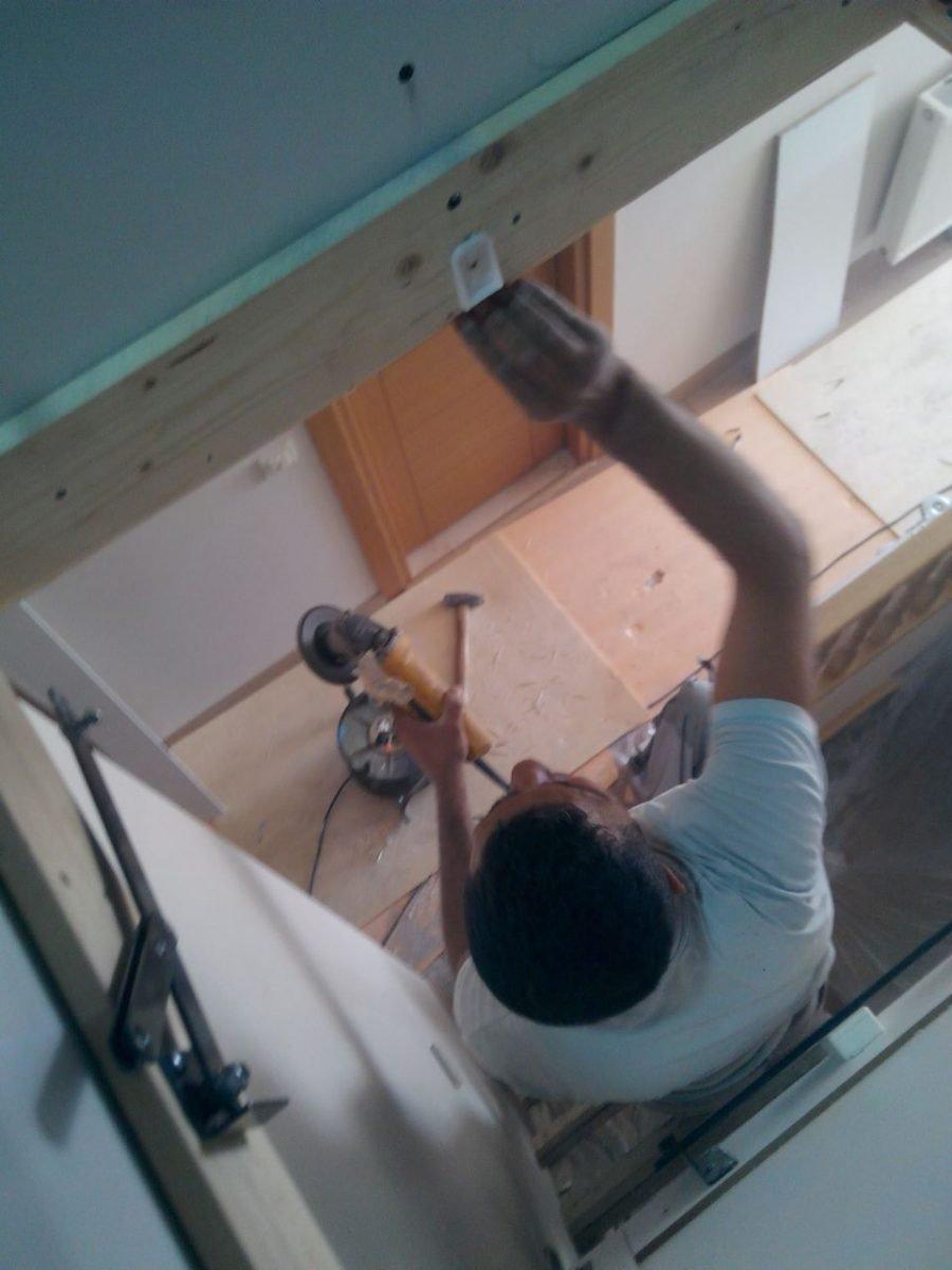 hazır makaslı çatı merdivenleri