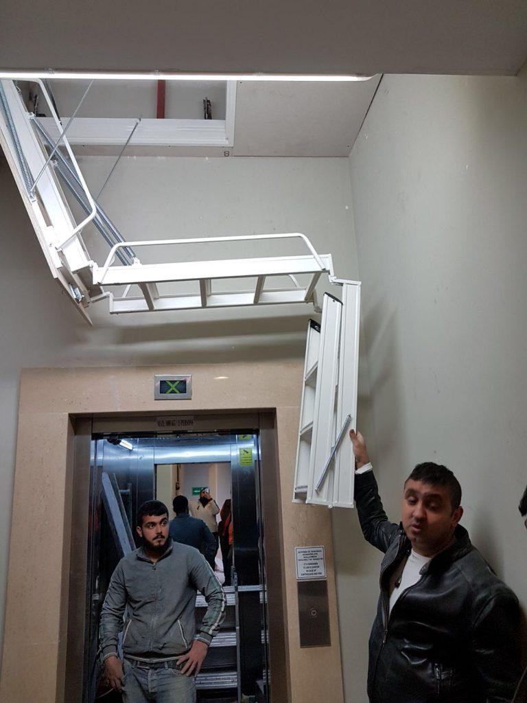 alüminyum çatı merdiveni ölçüsü