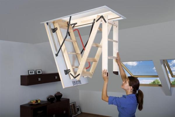 dekoratif fakro katlanır çatı merdivenleri