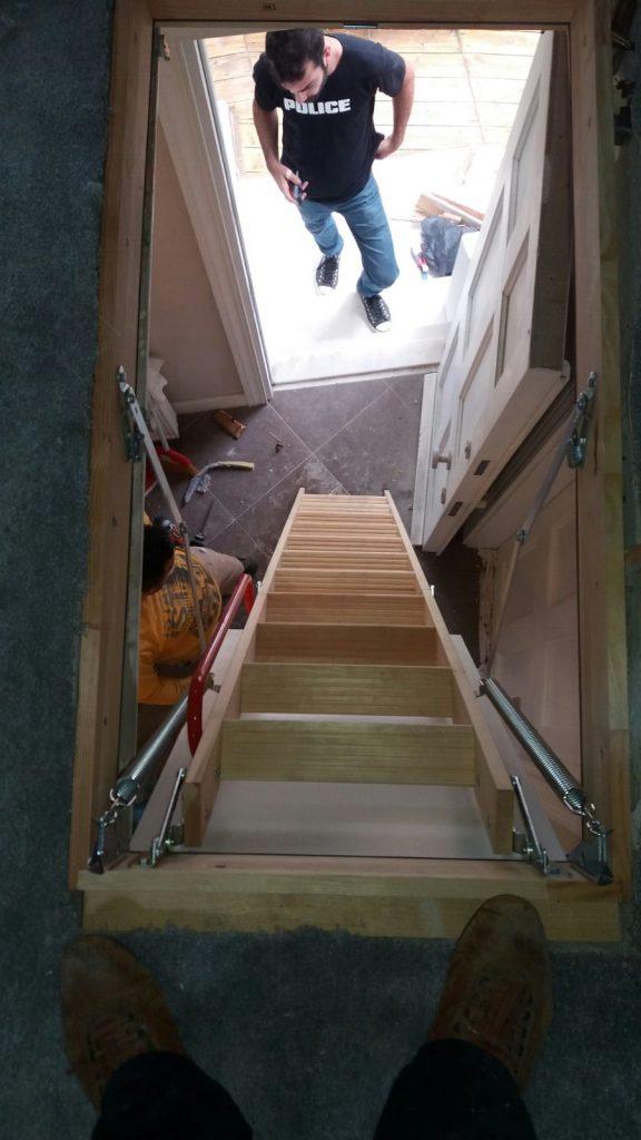 teras tavan arası çatı merdivenleri