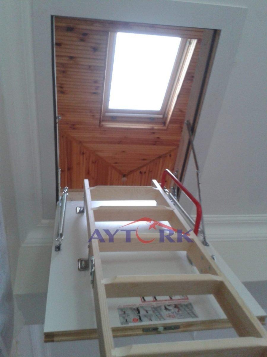 teras tavan arası çatı çıkış merdiveni kurulumu
