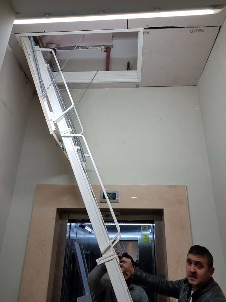 alüminyum çatı merdiveni sistemi