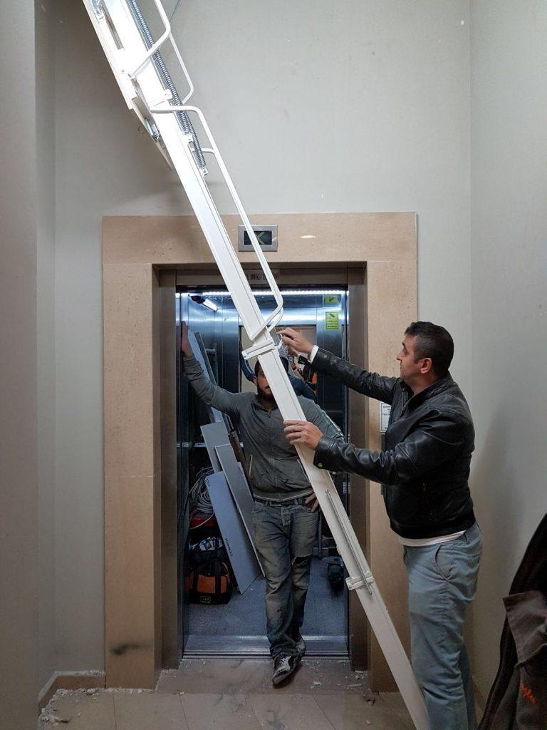 alüminyum çatı merdiveni sistemleri