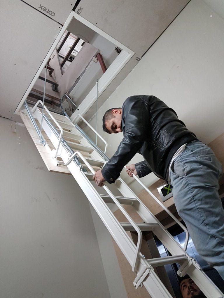 alüminyum çatı merdiveni aparatı