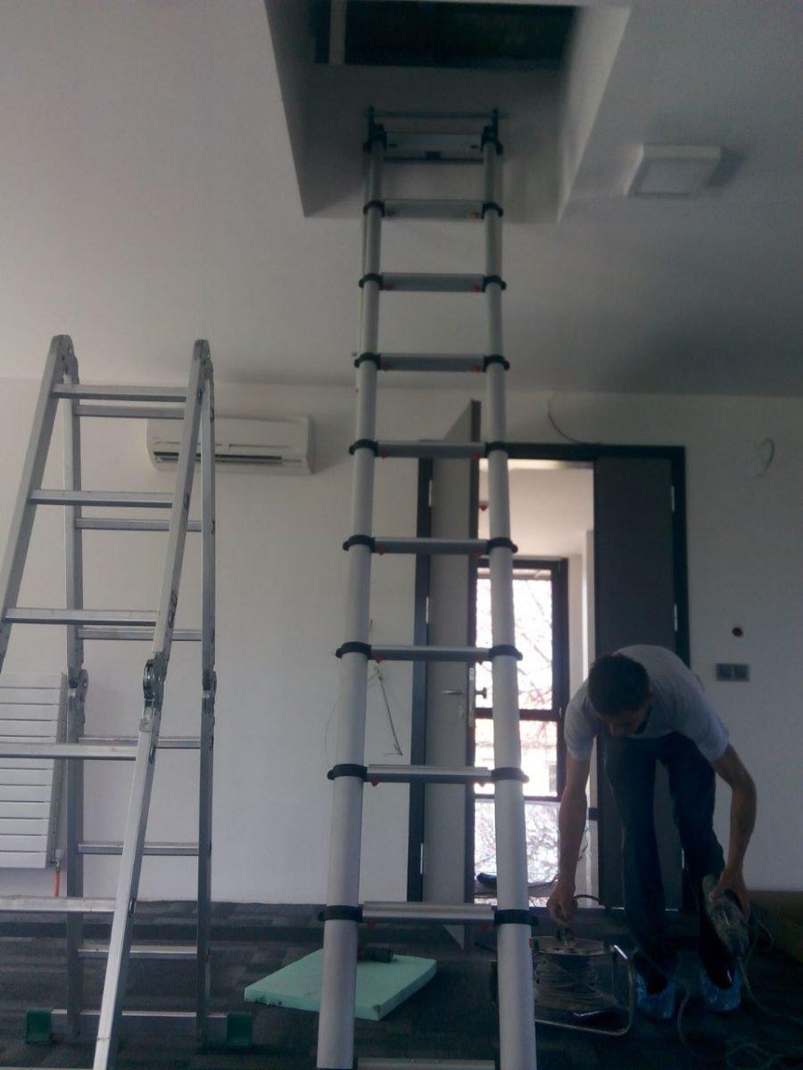 çatı iniş teleskopik çatı merdivenleri