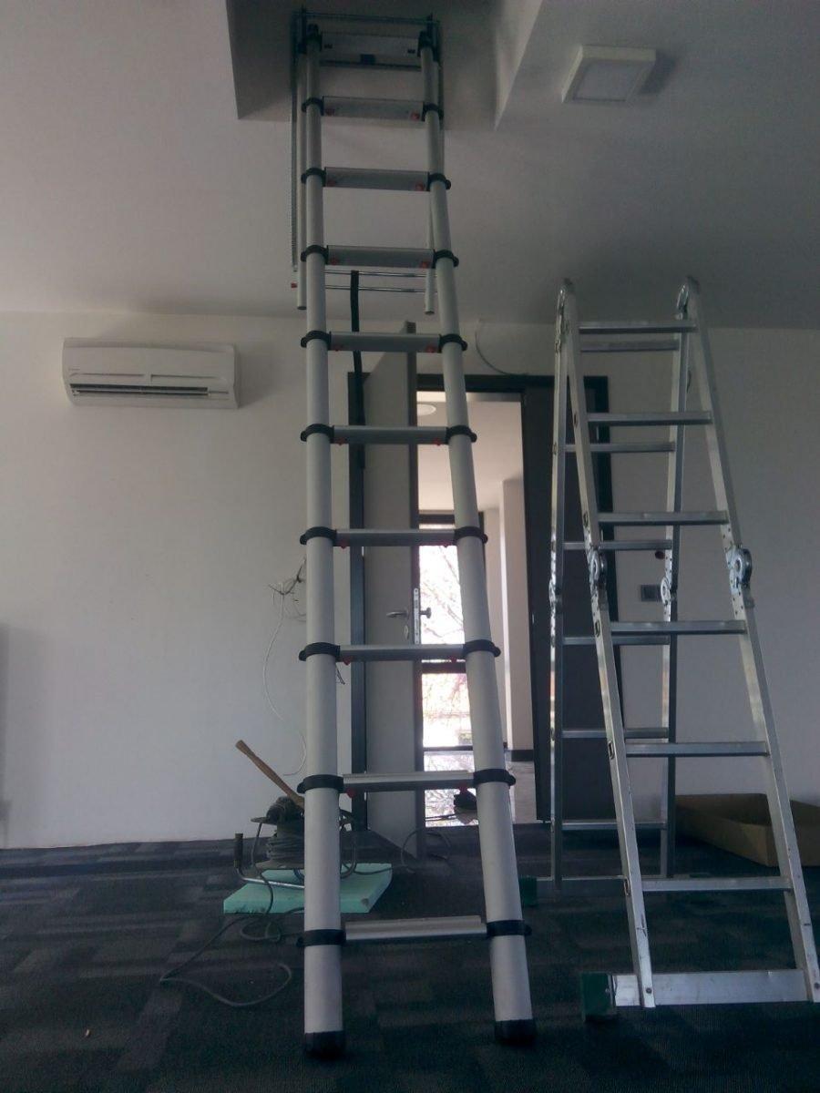 portatif teleskopik çatı merdiveni