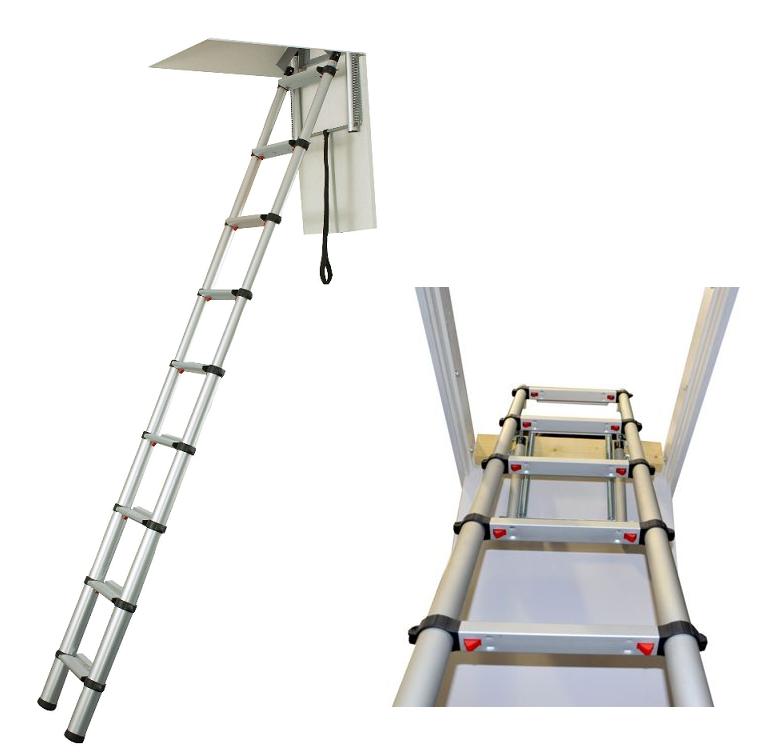mini teleskopik çatı merdivenleri
