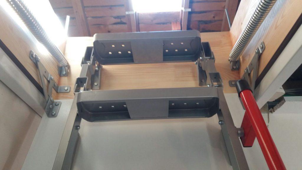 fakro lüx metal çatı merdiveni çizim planı