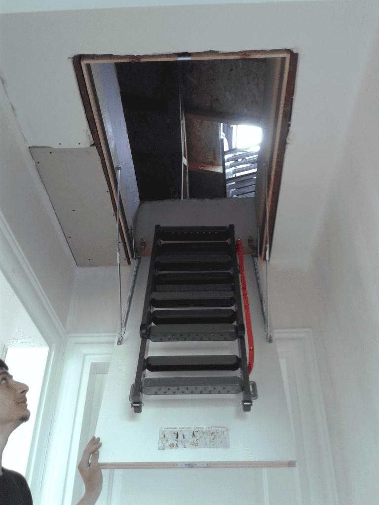fakro metal çatı merdiveni nasıl kurulur ve yapılır