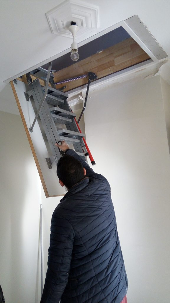 fakro lüx metal çatı merdiveni montajı fiyatları