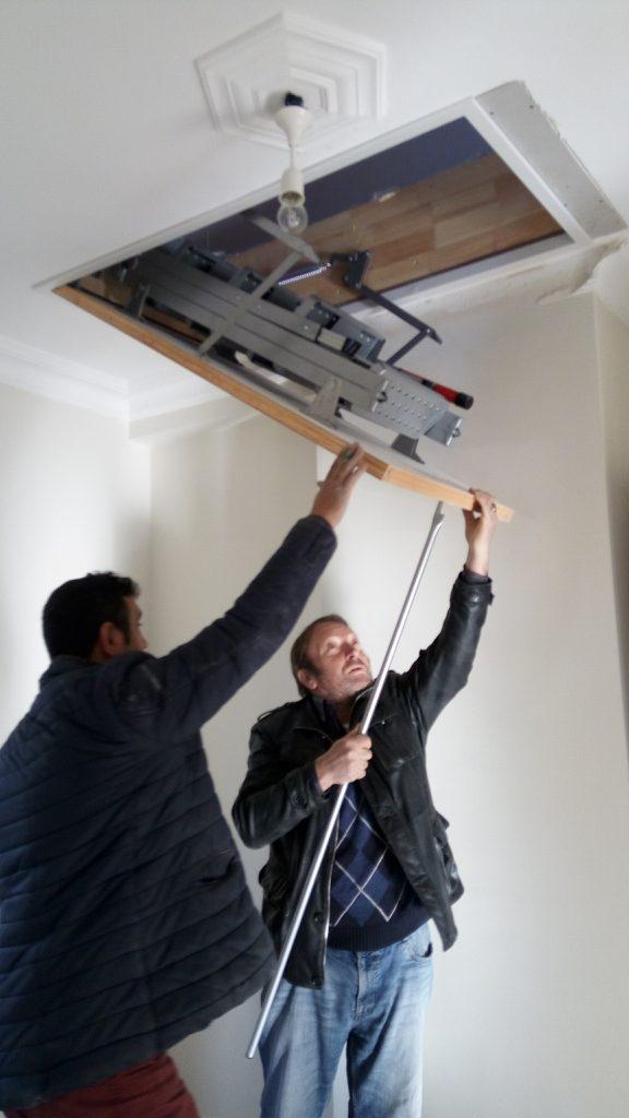 sahibinden fakro lüx metal çatı merdivenleri