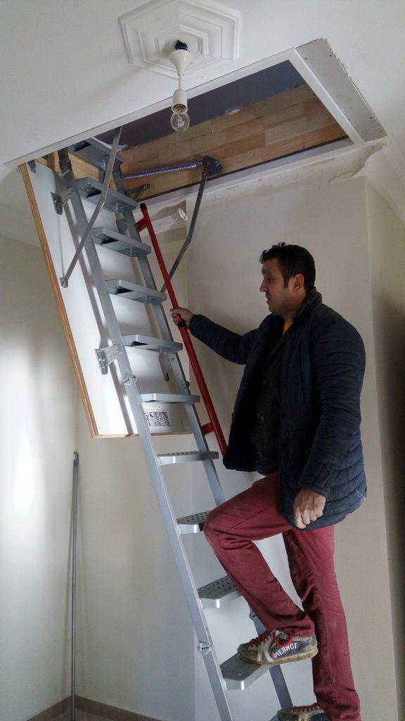 katlanır fakro lüx metal çatı merdivenleri