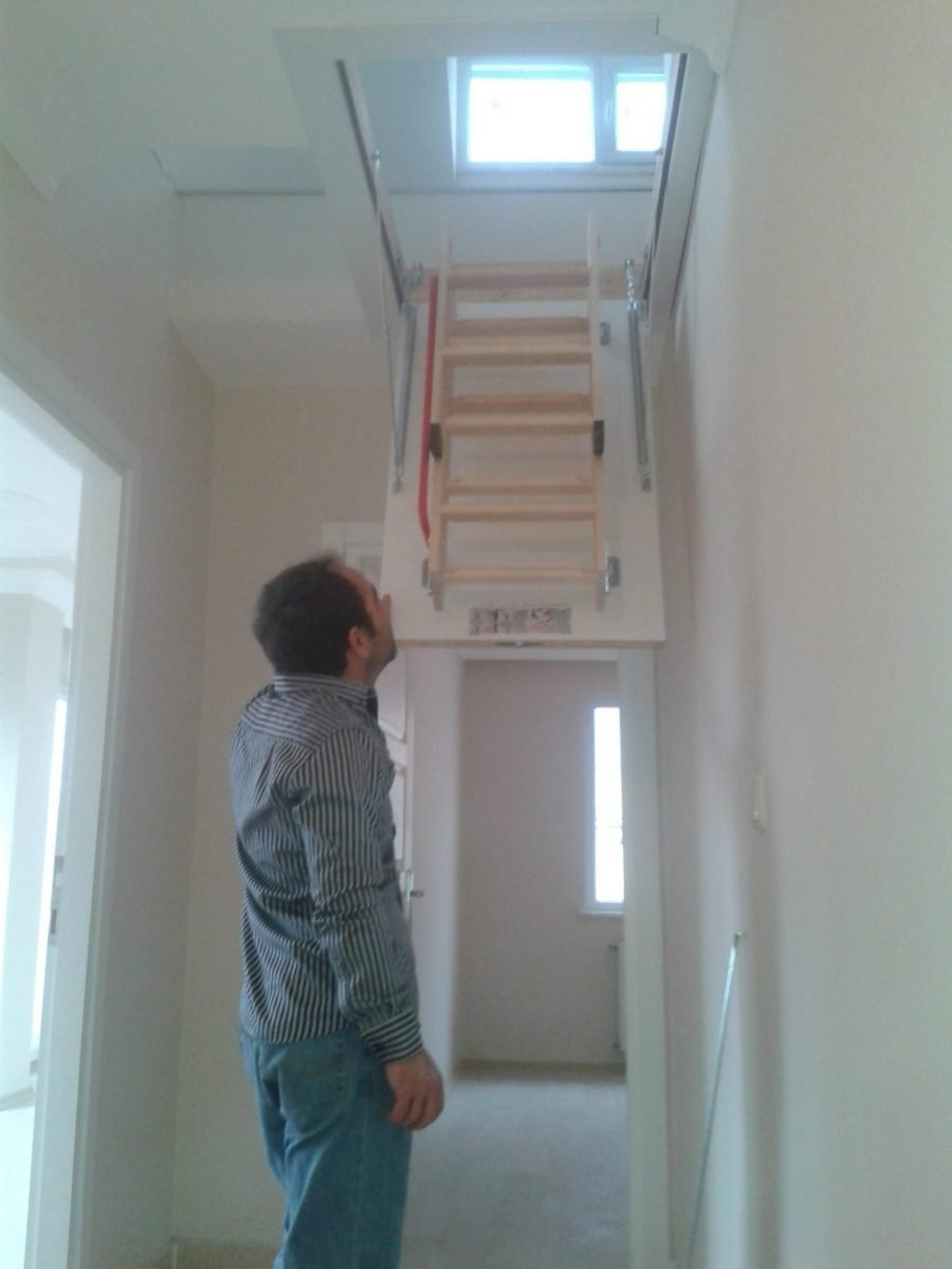 fakro pratik ahşap çatı merdiven modelleri