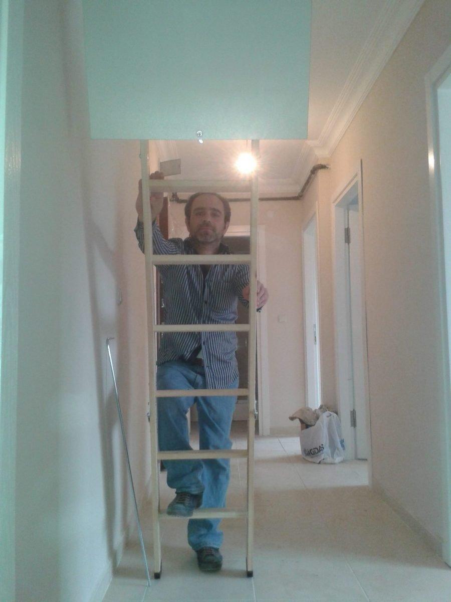 fakro ahşap çatı çıkış merdiven kurulumu