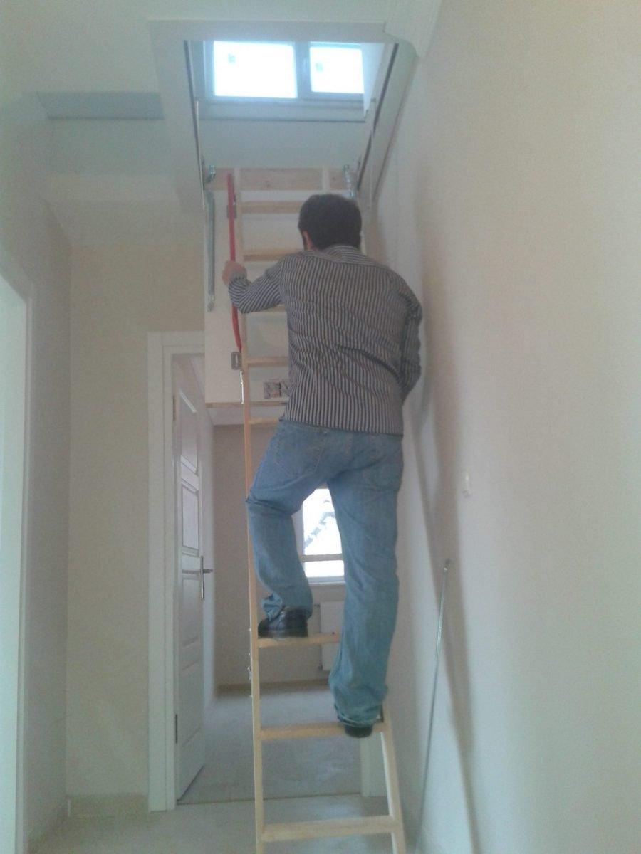 fakro ahşap çatı merdiveni katlanır