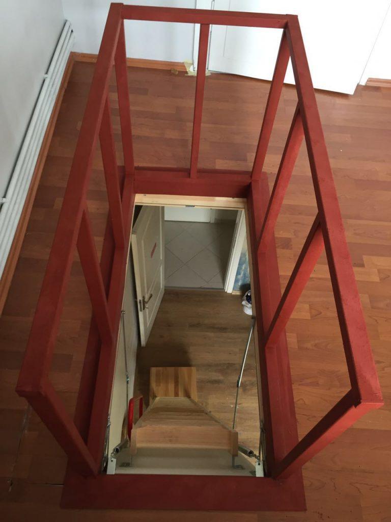 ahşap çatı merdiven malzemesi