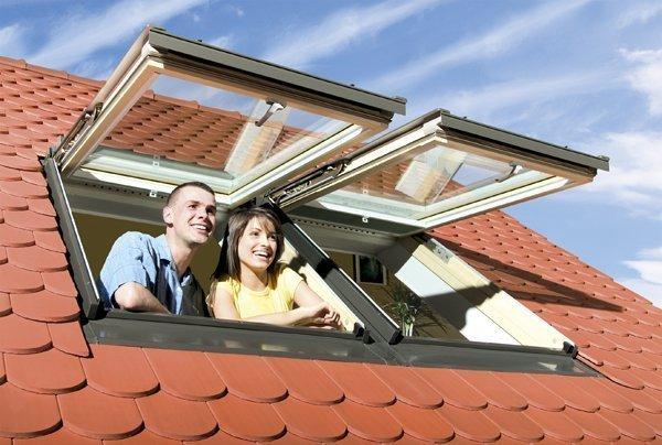 çift açılan çatı penceresi