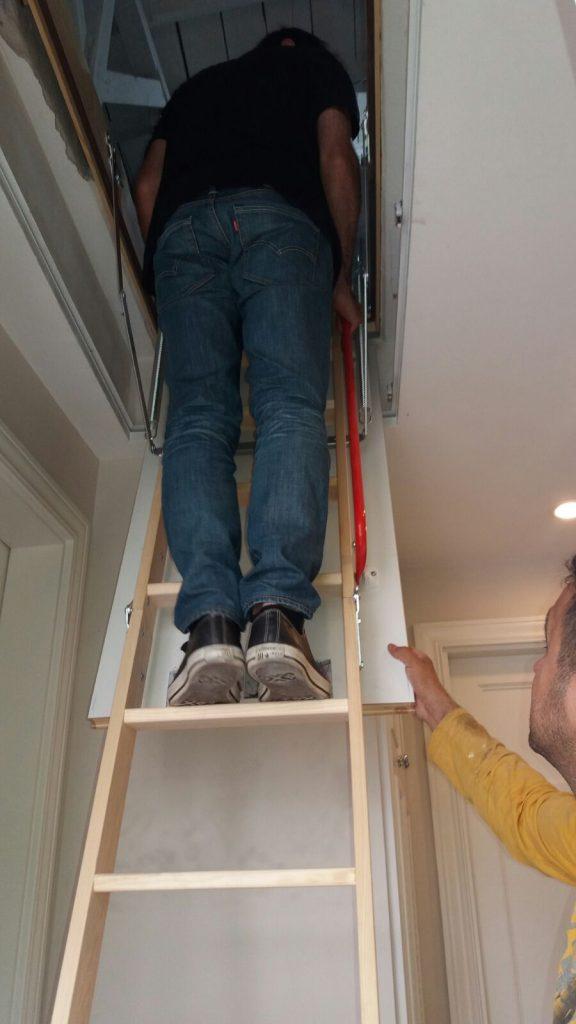 fakro üç basamaklı ahşap çatı merdiveni ankara