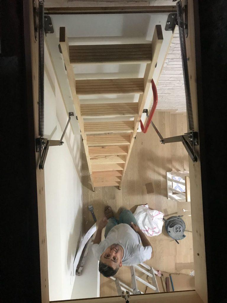 nukan çatı merdiveni malzemesi